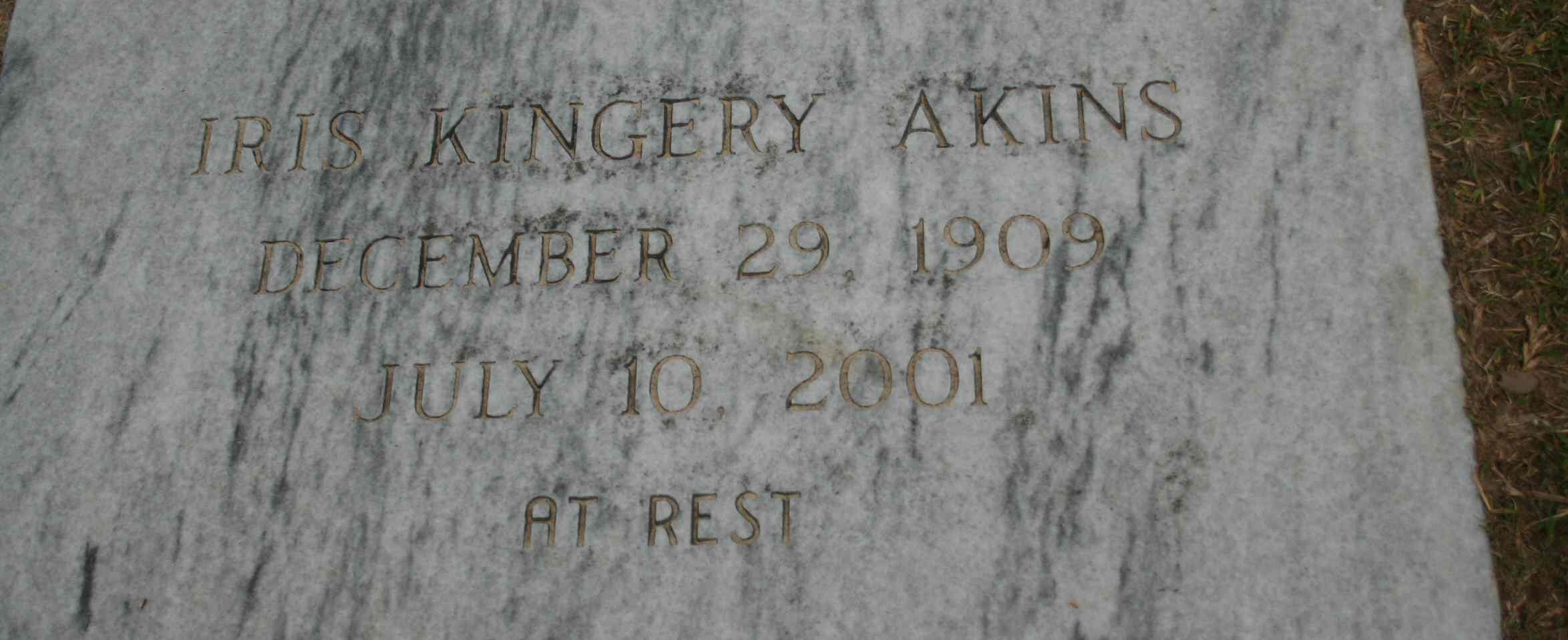 Iris <i>Kingery</i> Akins