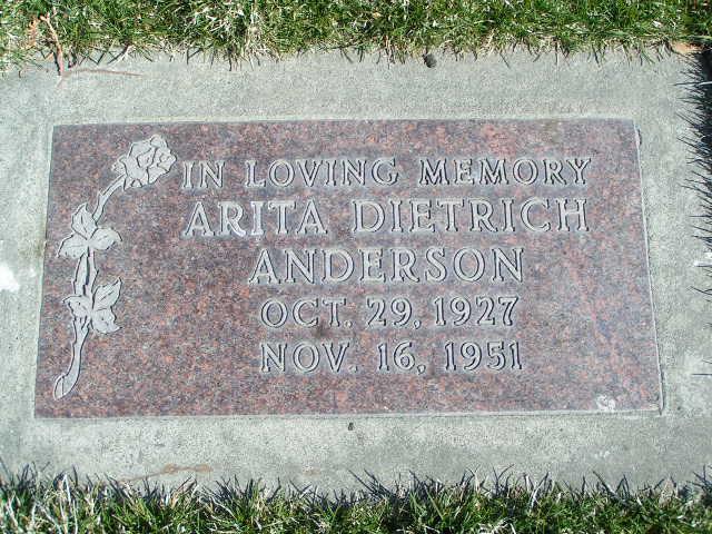Arita Vernice <i>Dietrich</i> Anderson