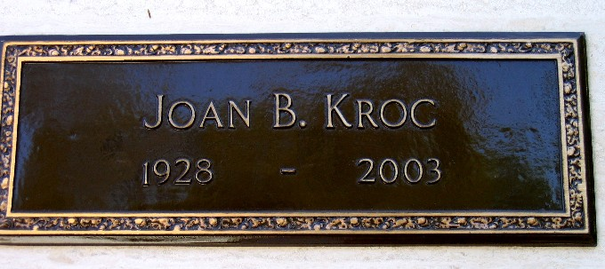 070464c3e Joan Beverly Mansfield Kroc (1928-2003) - Find A Grave Memorial