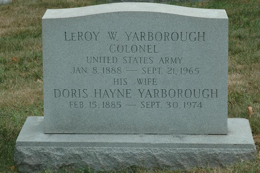 Col Leroy William Yarborough