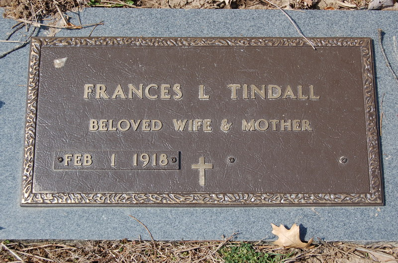 Frances Louise Tindall