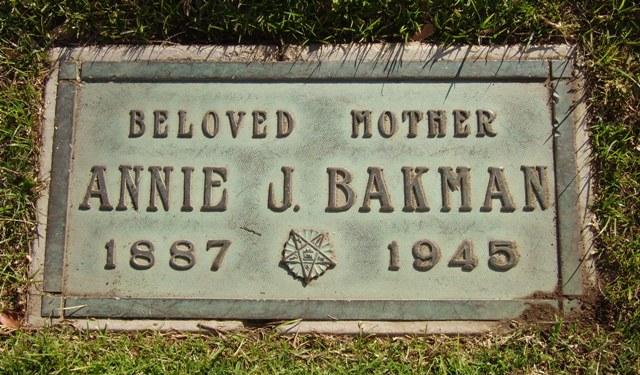 Annie J <i>Scott</i> Bakman