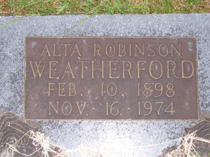 Alta R <i>Robinson</i> Weatherford