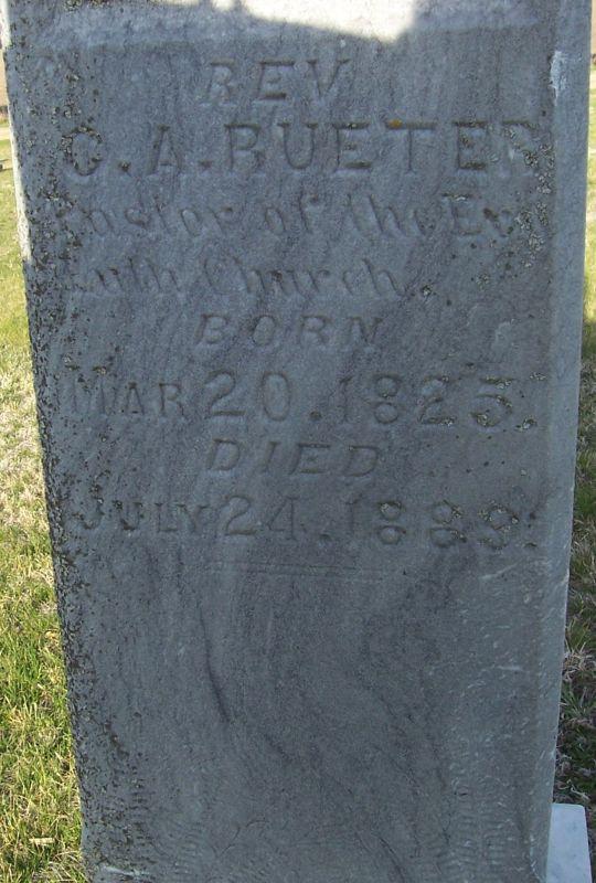 Rev Charles Roderich Adelbert Rueter