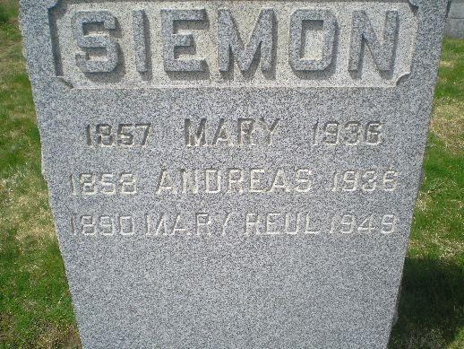 Mary <i>Siemon</i> Reul