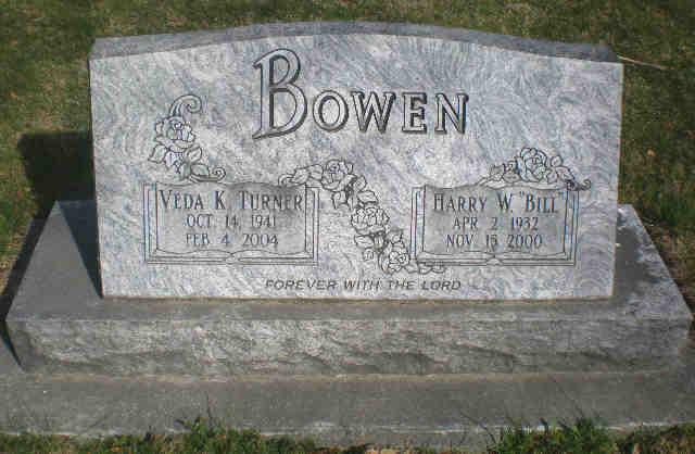 Veda Karen 'Anthis' <i>Turner</i> Bowen