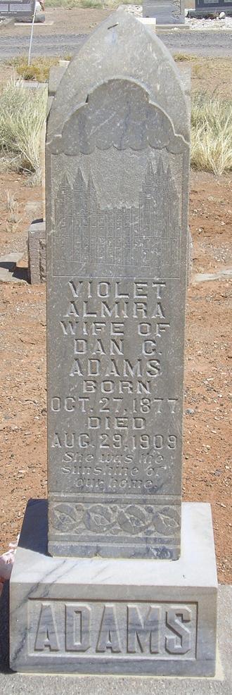 Violet Almira <i>Larsen</i> Adams