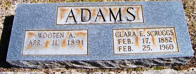 Clara E. <i>Scruggs</i> Adams