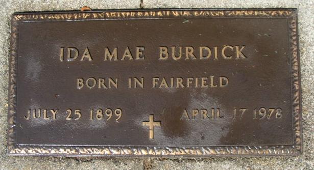 Ida May <i>Hammond</i> Burdick