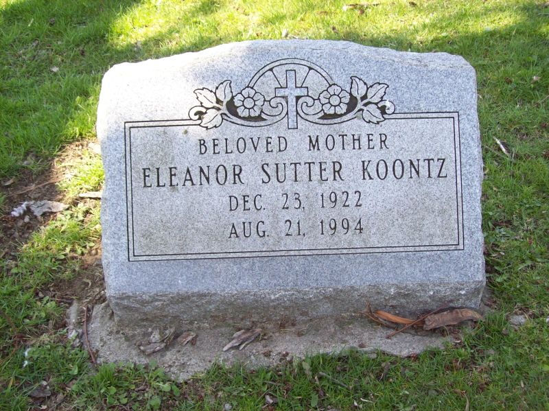 Eleanor <i>Sutter</i> Koontz