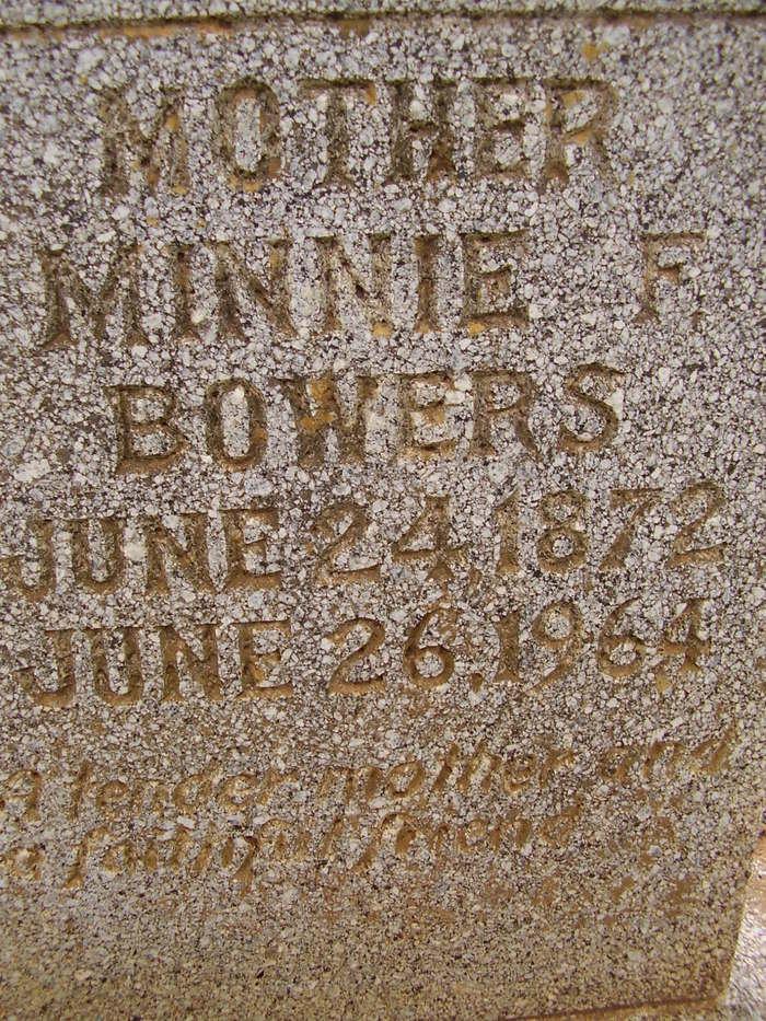 Minnie Ford <i>White</i> Bowers