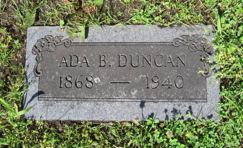 Ada Belle <i>Gregory</i> Duncan