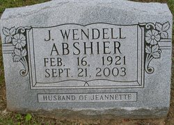 J Wendell Abshier