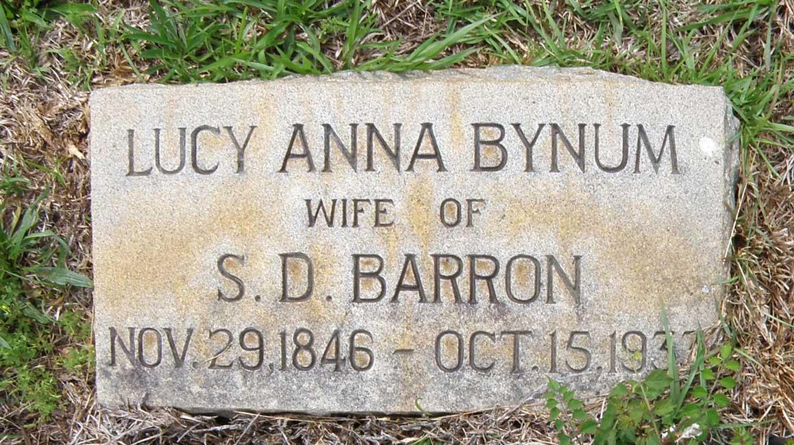 Lucy Anne <i>Bynum</i> Barron