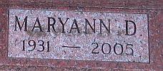 Maryann Dorothy <i>Schwabe</i> Koehler