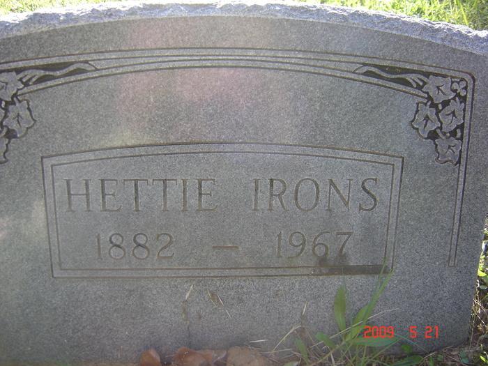 Hettie <i>Williams</i> Irons