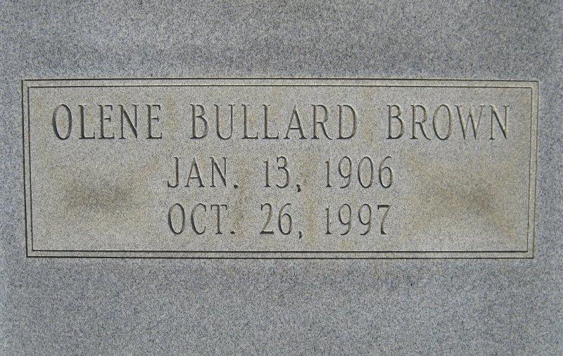 Olene Elmira <i>Bullard</i> Brown
