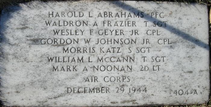 PFC Harold L. Abrahams