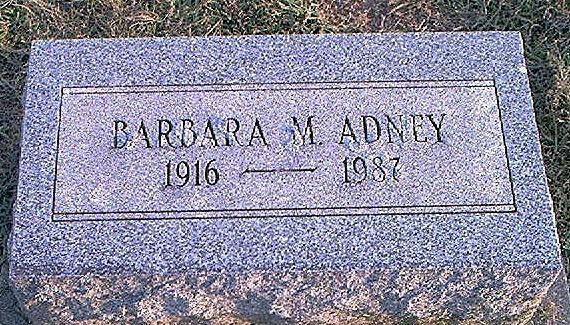 Barbara <i>Miller</i> Adney