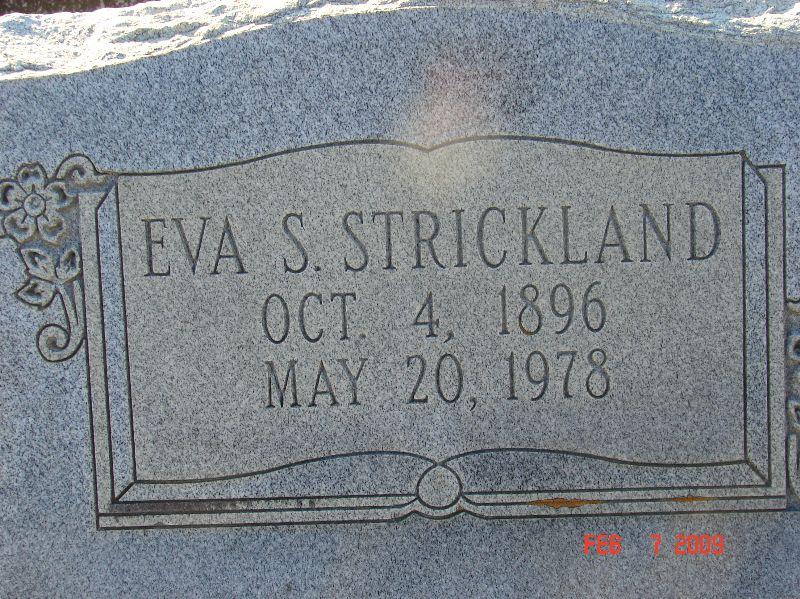 Eva Lectoria <i>Sanders</i> Strickland