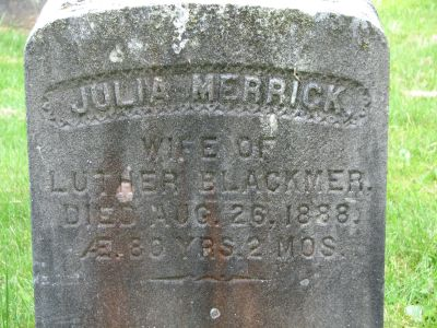 Julia <i>Merrick</i> Blackmer