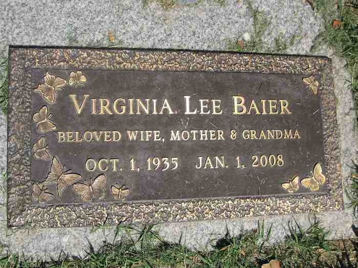 Virginia Lee Tootsie <i>Sloan</i> Baier