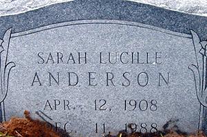 Sarah Lucille <i>Grimes</i> Anderson