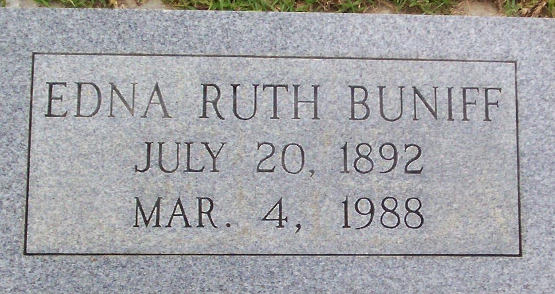 Edna Ruth Buniff