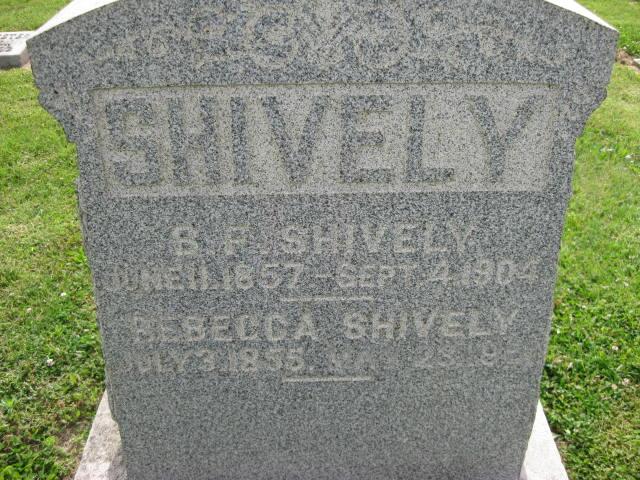 Rebecca <i>hoover</i> Shively