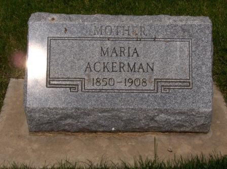 Maria <i>Gerber</i> Ackerman