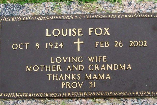 Thelma Louise <i>Calvert</i> Fox