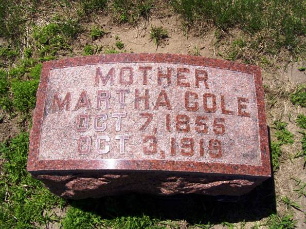 Martha <i>Baker</i> Cole