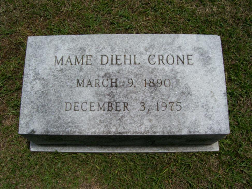 Mame E. <i>Diehl</i> Crone