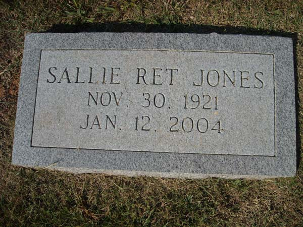 Sallie Ret <i>Keenum</i> Jones