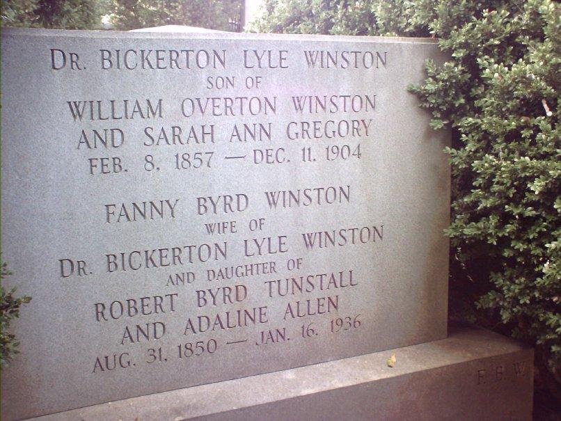 Fanny Byrd <i>Tunstall</i> Winston