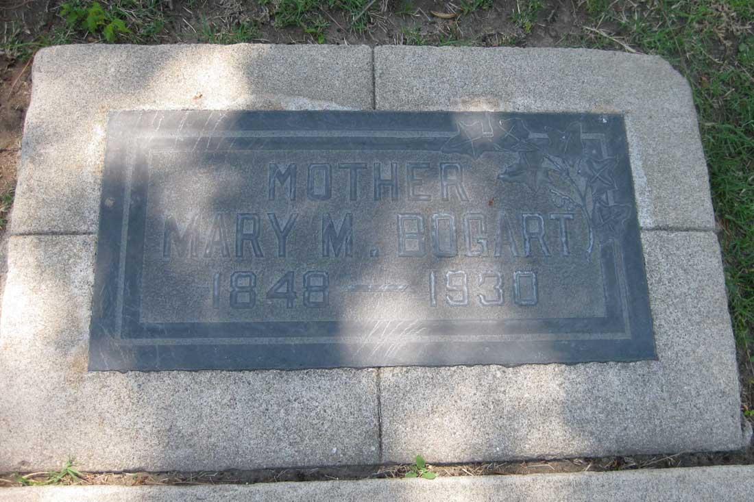 Mary Melvina <i>Buchanan</i> Bogart