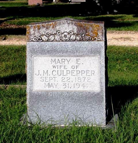 Mary Elizabeth <i>Dunevant</i> Culpepper