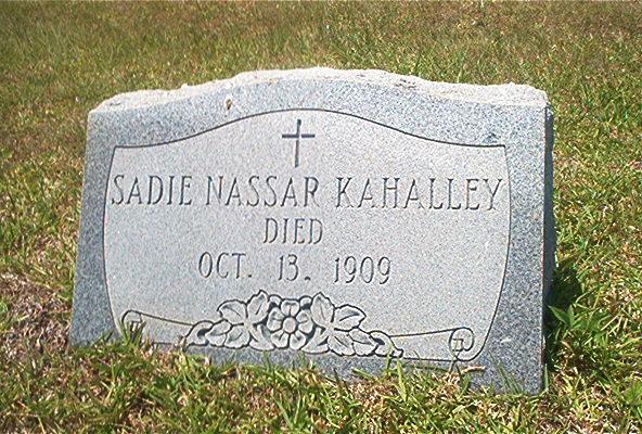 Sadie <i>Nassar</i> Kahalley