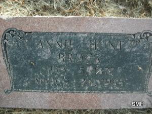 Annie Rebecca <i>Hunt</i> Brock