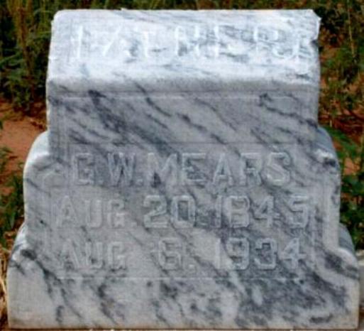 George Washington G W-Wash Mears