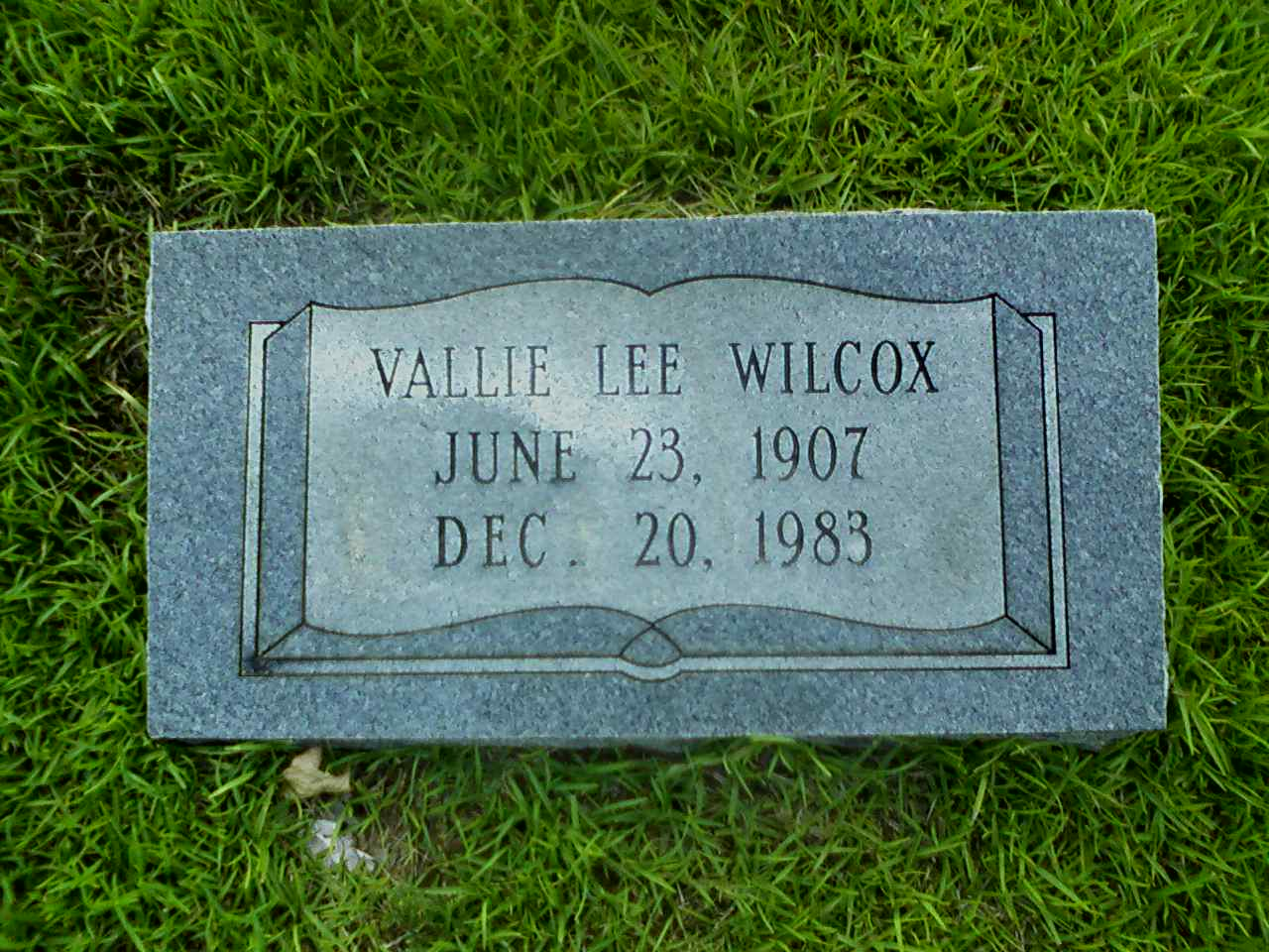 Vallie Lee <i>Tolleson</i> Wilcox