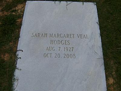Sarah Margaret <i>Veal</i> Hodges