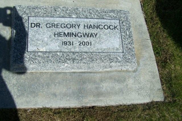 Dr Gregory Hancock Gloria Hemingway