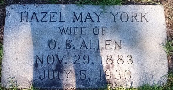 Hazel May <i>York</i> Allen