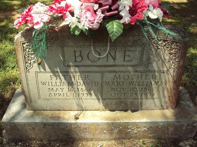 Mary <i>Williams</i> Bone