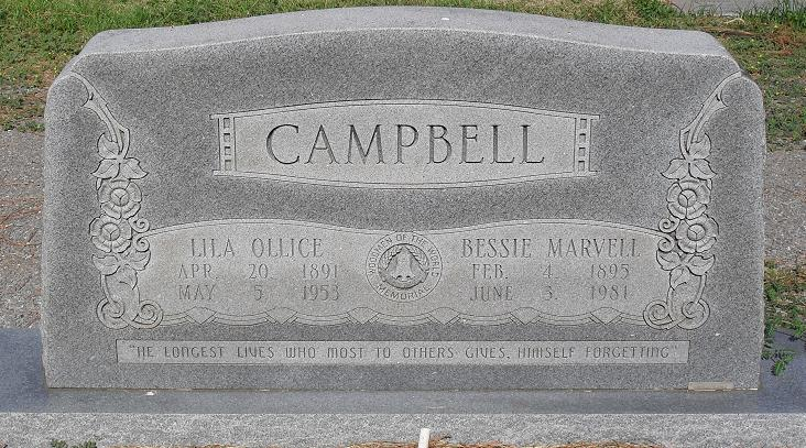 Bessie Marvell <i>Doss</i> Campbell
