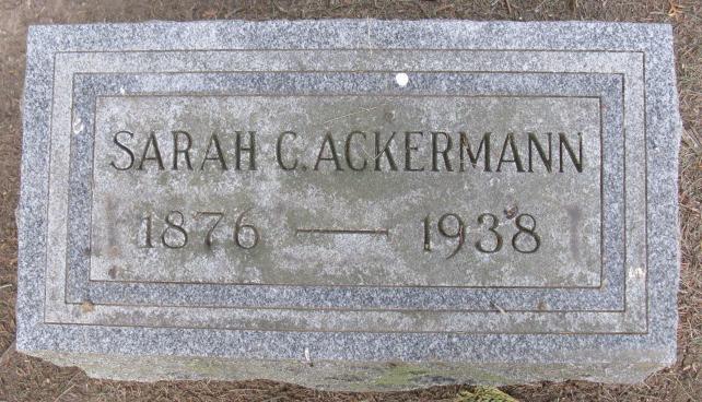 Sarah C <i>Goldsmith</i> Ackerman