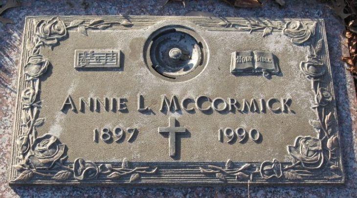 Annie Lee <i>Teagle</i> McCormick