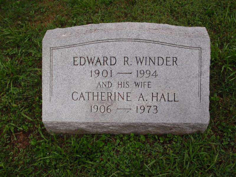Catherine Achsah <i>Hall</i> Winder