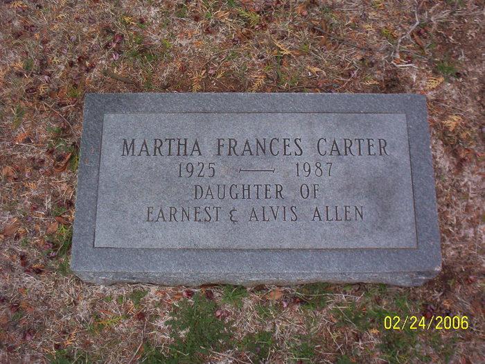 Martha Frances <i>Allen</i> Carter